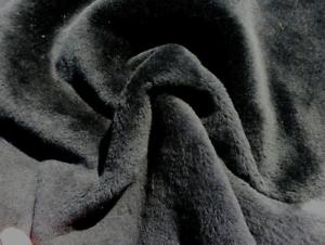 sheepskin shearling leather hide Dark Blue Silky Hair w//Lighter Blue Suede back