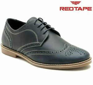 mens red tape leather lace up casual office smart london