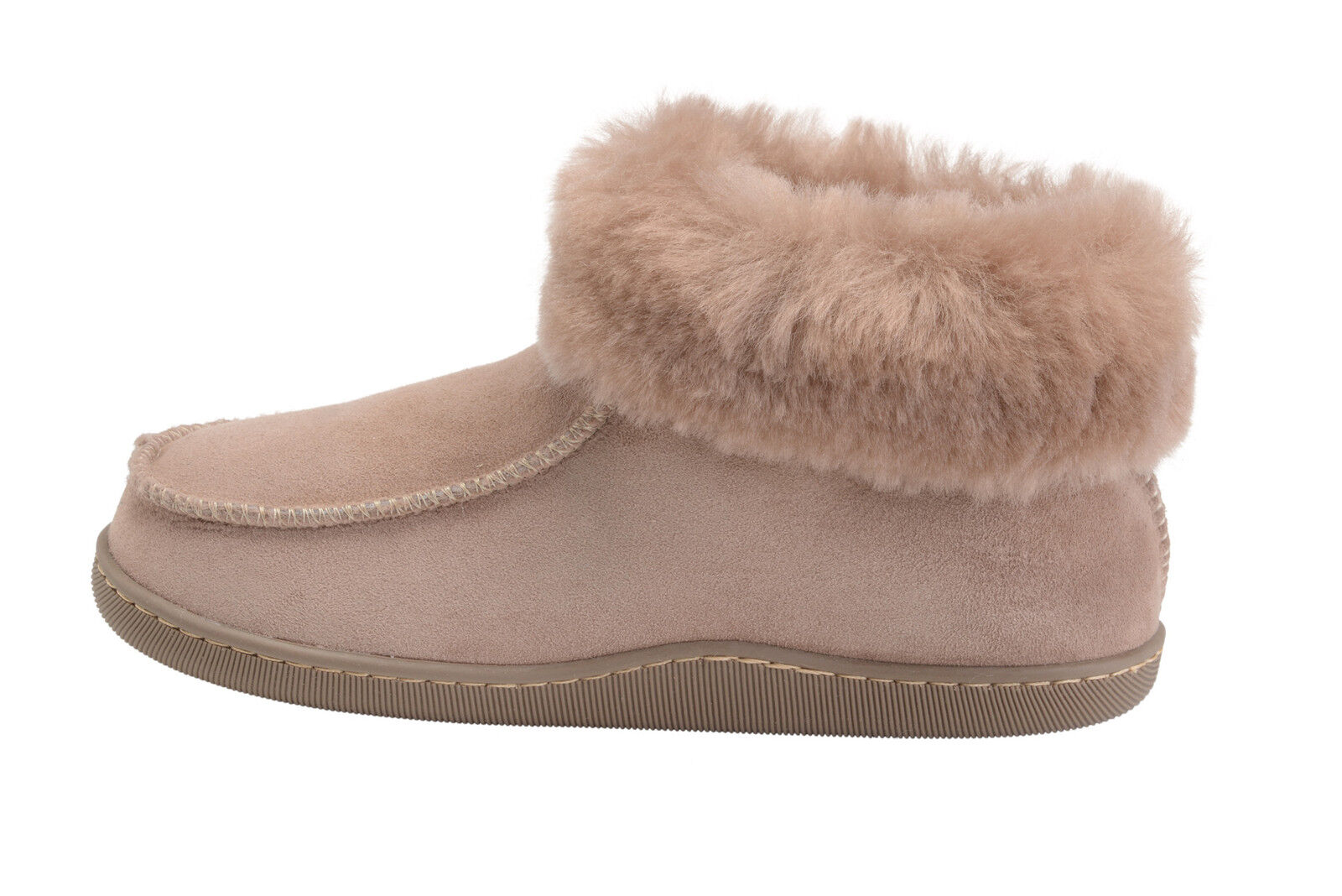 New Mens Womens Genuine Sheepskin Booties House Slippers shoes with Wool Lining