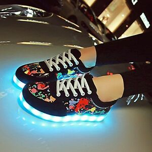 95af8c10e78 Scrawl Unisex LED Light Up USB Sneaker Women Men Lace Up Sportswear ...