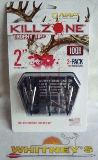 NAP Killzone Trophy Tip Broadhead 100 Grain 3-pack for sale online