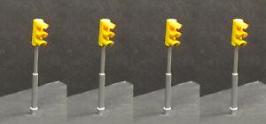Leonard-Miniature-Traffic-Lights-1-48-O-scale-4-poles-controller-amp-power-supply