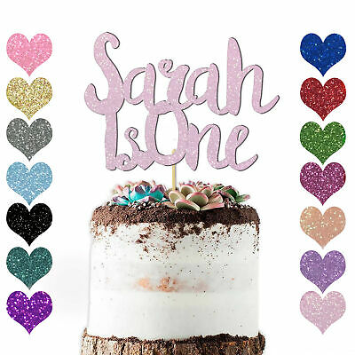 Excellent Personalised First Birthday Cake Topper Kids Any Name Age 1St Personalised Birthday Cards Sponlily Jamesorg