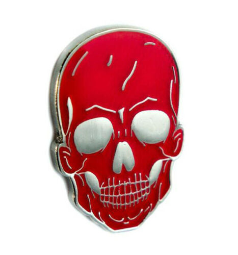 Red Death Skull Lapel Pin Goth Punk Metal Psychobilly Alternative Grunge Horror