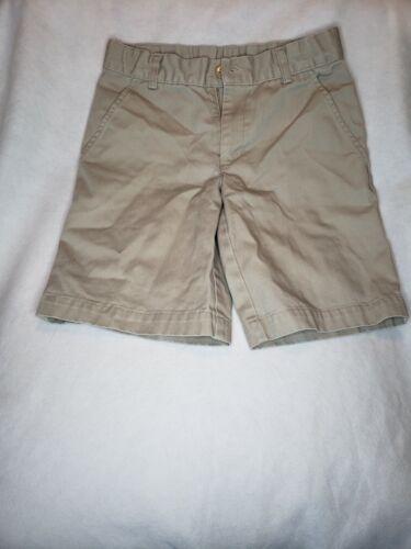 Boys Uniform Shorts Size 8 Khaki Beige Back To School Outfit Adjustable Waist