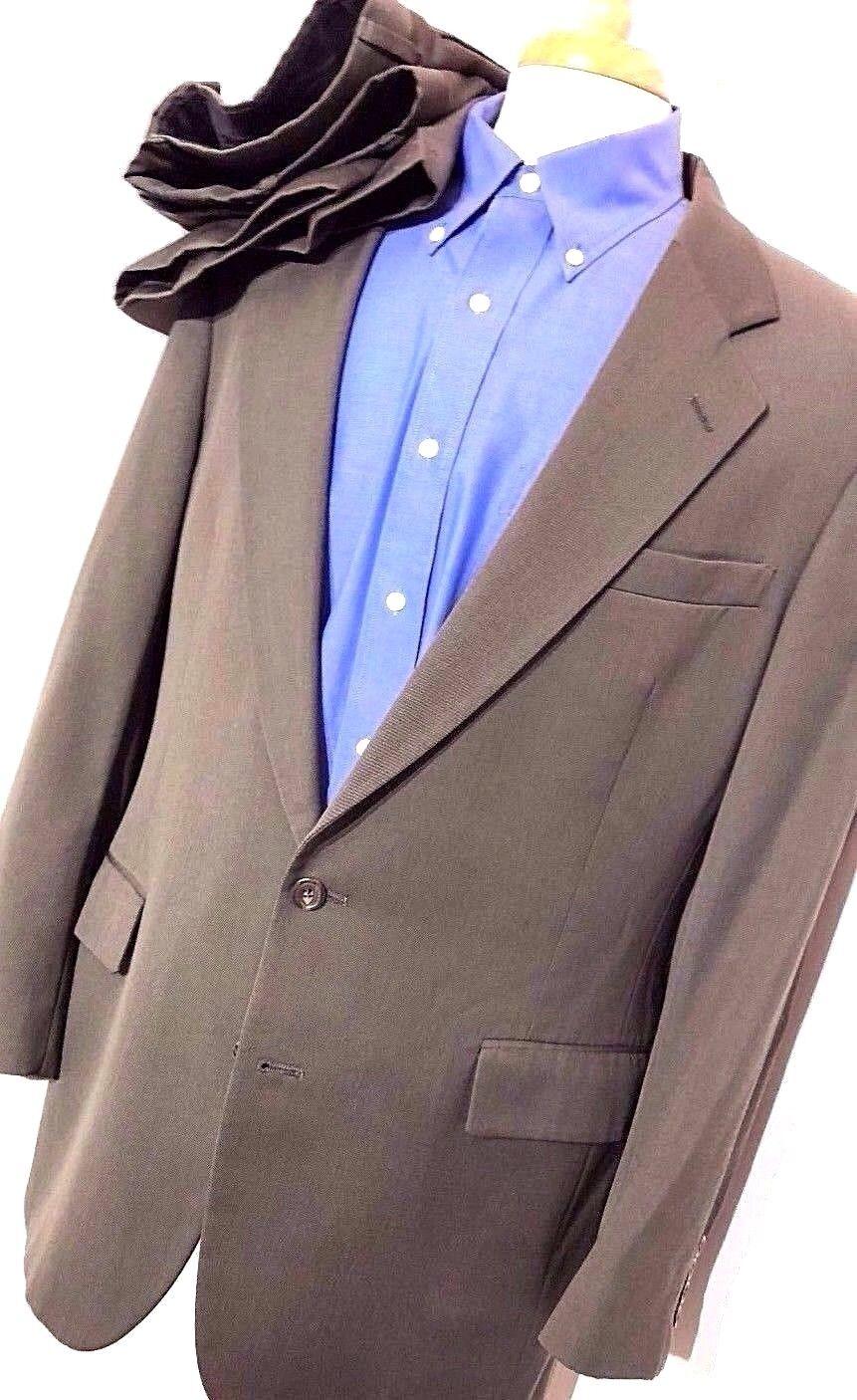 Jos. A. Bank Suit Men's 43L Long - 38 x (30.5-33) Solid Green-Olive Vented EUC