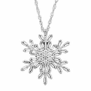 Snowflake-Pendant-with-White-Cubic-Zirconia-in-Sterling-Silver