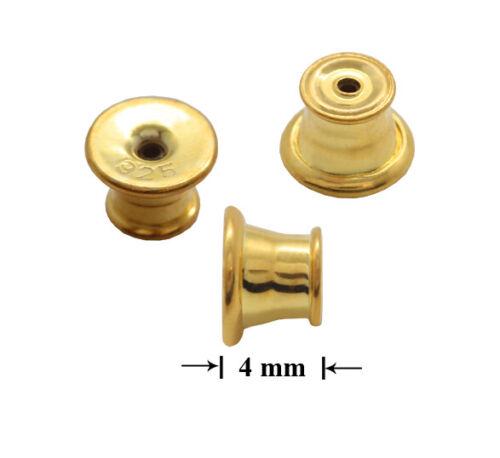 Sterling Silver 925 Earring Back Stoppers Ear Post Nuts 4mm Findings