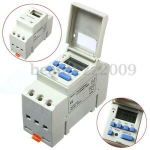 220V-16A-DIN-Rail-Digital-Programmable-Time-Relay-Timer-Switch-DIN-Rail-Mounting