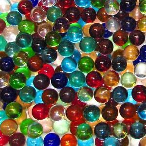 "Marble King One Pound 9/16"" (14mm) Transparent Mix Glass Marbles 99218013"