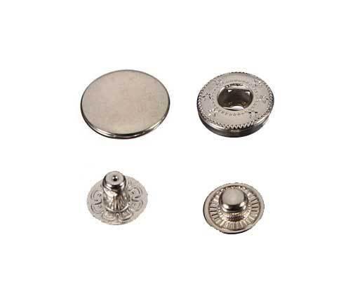 0,12€//1Stk Druckknöpfe Knöpfe Kleidung 15mm Metall 250 Stück silber Snaps Butt