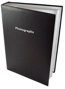 Grand-Memo-Noir-Slip-dans-Album-Photo-300-6-x-4-photos-souvenirs-organiser-stockage