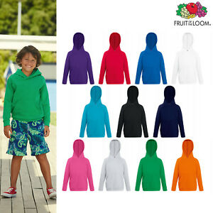 Fruit-of-The-Loom-Kids-Lightweight-Hooded-Sweatshirt-Boys-Girls-Hoodie-5-15yrs