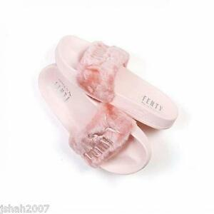 check out d1866 edf65 Details about PUMA RIHANNA PINK FUR LEADCAT SLIDE PINK FENTY ALL SIZES UK 3  4 5 6 7 8 NEW