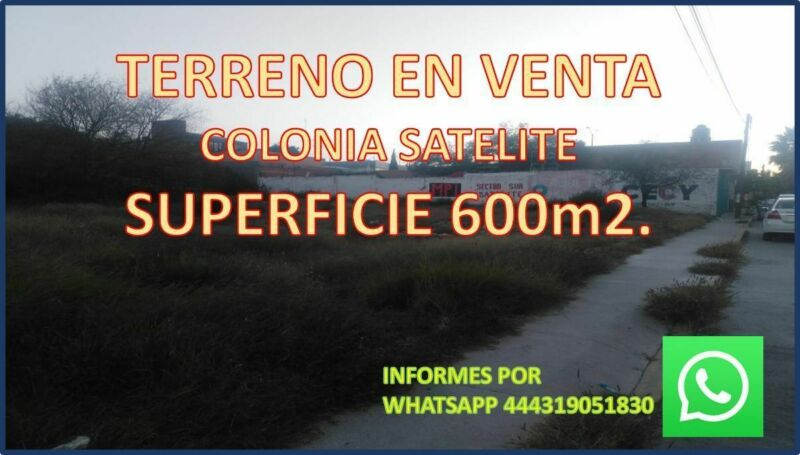 EN VENTA TERRENO SUPER UBICADO, A MEDIA CUADRA DE AV. SIMON DIAZ, COLONIA SATELI