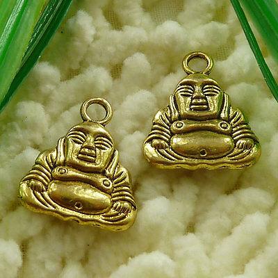 Free Ship 96 pcs gold plated the Buddha charms 20x16mm #2477