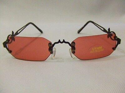 Vampire Sunglasses ~  Red Lenses ~ Frameless ~ Lost Boys ~ Gothic ~ Blade