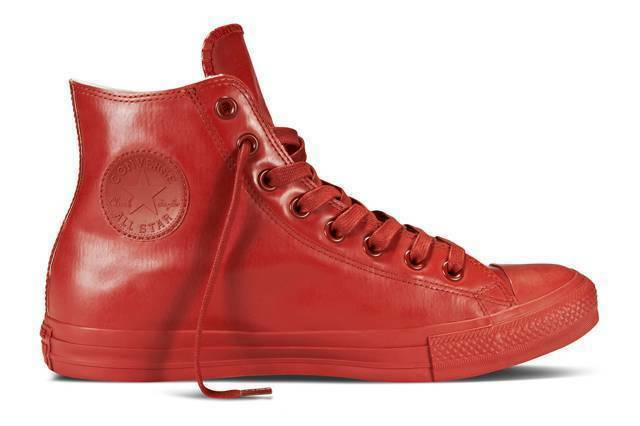 Converse All Star CT HI In Gomma Rosse men women shoes Alte Scarpa Red 144744C