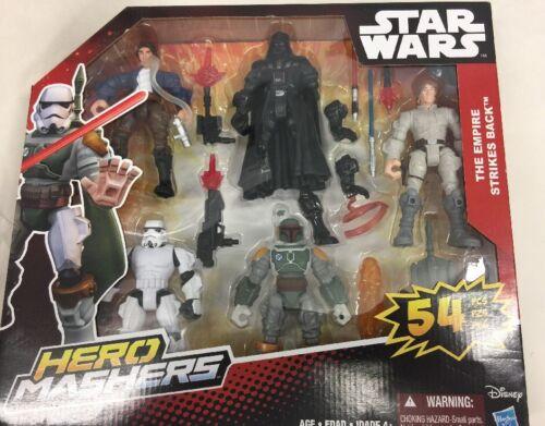 Figurines d'action Héros de héros Mashers de Star Wars - 54 pièces Empire contre-attaque de Disney Boba Fett 630509373352