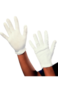 Child White Cotton Gloves Santa Magician Christmas Fancy Dress Costume Accessory