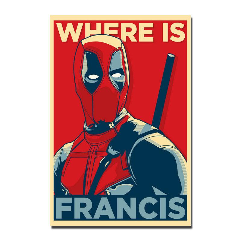 Deadpool Superhero Movie Silk Poster Print 12x18 24x36 inches 008