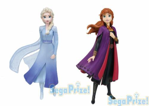 SEGA Prize Disney Frozen 2 Anna Elsa Premium Figure 2 Set JAPAN OFFICIAL IMPORT