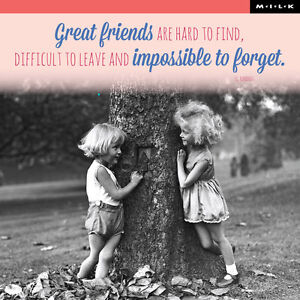 Details About Great Friends Are Hard To Find Birthday Greeting Card Square Milk Range Cards