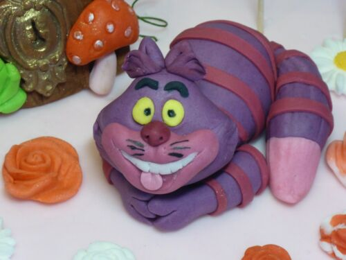 Edible Alice in Wonderland Rabbit,Cheshire Cat,Birthday,Handmade Cake Topper