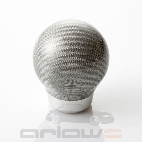 Silber carbon Kohlefaser Schaltknauf Audi A4 S4 RS4 B5 A3 S3 8P 8L A6 S6 4B 80