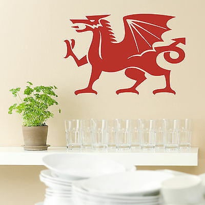 WALES WELSH FLAG GIANT BIG LARGE WALL STICKER decal car art vinyl 5size Football