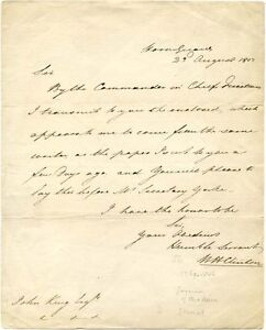 British-General-William-Clinton-signed-letter-1803-re-034-Commander-In-Chief-034