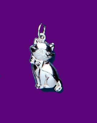 "Geleerd Cat Pendant Sterling Silver 925 Hallmark Pet Jewellery 14-30"" Chain Up-To-Date Styling"