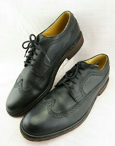Frye-Company-James-Black-Leather-Longwing-Oxford-Shoes-84625-Men-039-s-14-D