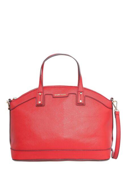 New Women Mango MNG Touch Saffiano-effect Tote Shoulder Shell Handbag Bag
