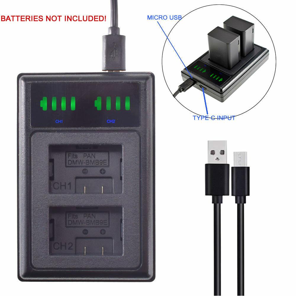 USB DMW-BMB9E Battery Charger for Panasonic Lumix DMC-FZ62 FZ100 FZ150 FZ45 FZ48
