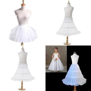 Bridesmaid Children Flowergirl Hoopless Net Petticoat ...