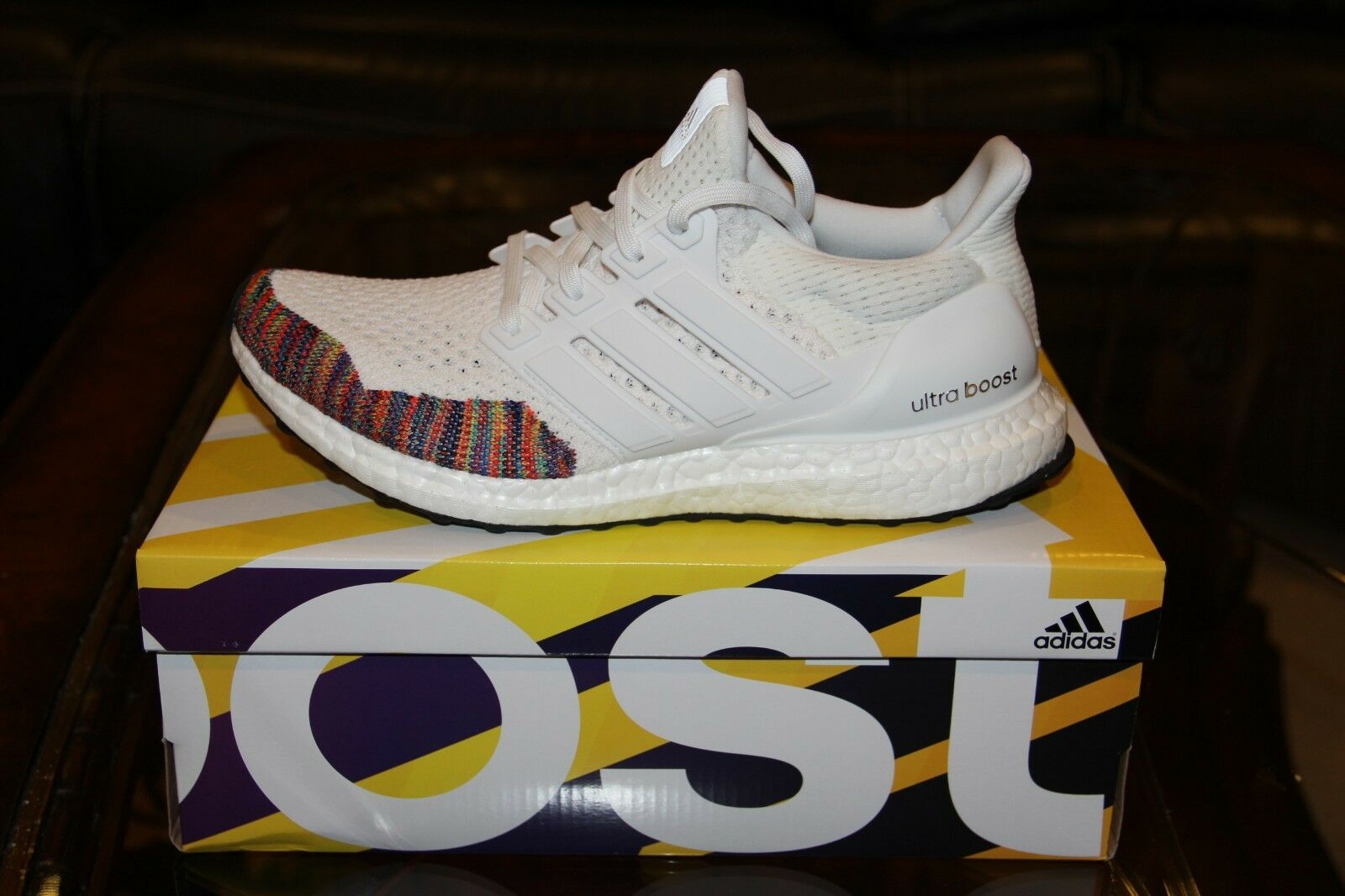 85472623daa UltraBOOST 1.0 LTD White Multicolor SIZE 9.5 Adidas Toe noekwe7687 ...