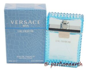 Versace-Man-Eau-Fraiche-3-3-3-4-oz-Eau-De-Toilette-Spray-for-Men-New-In-Box