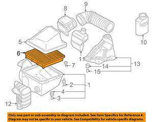mitsubishi oem 99 04 montero sport engine air cleaner filter element rh ebay com 2002 montero sport engine diagram 2001 mitsubishi montero sport engine diagram