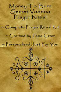 Details about Money To Burn Voodoo Prayer Ritual Kit Rich Life Wealth Spots  Car Mansion Travel