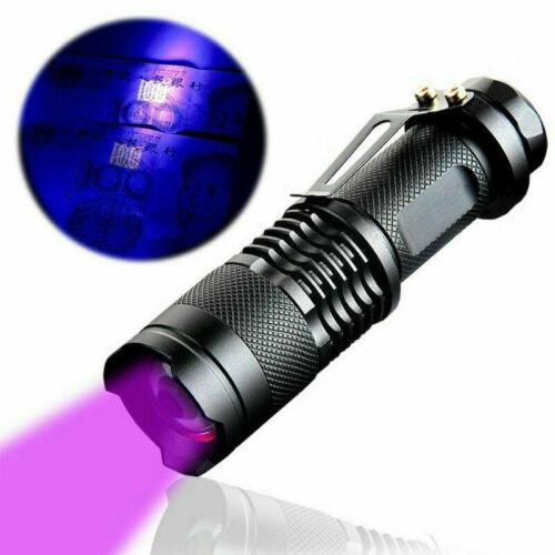 Antorcha ultra violeta led luz negra Nueva linterna lámpara inspección 395 UV ES