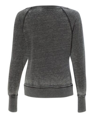 America J Ladies/' Zen Fleece Raglan Sleeve Crewneck Sweatshirt 8927