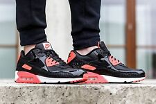 nike air max 90 black croc infrared