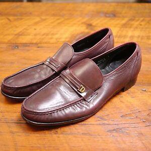 3a824c5e6ee2 Image is loading Vintage-FLORSHEIM-Burgundy-Leather-Moc-Toe-Comfort-Loafers-
