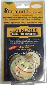Aramith-2-1-4-034-Regulation-Size-Billiard-Pool-Ball-Jim-Rempe-Training-Cue