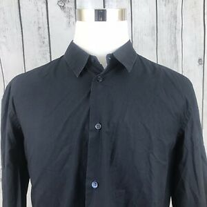 Marni-Mens-Black-Blue-Two-Tone-Long-Sleeve-Button-Shirt-Made-in-Italy-Size-52-XL