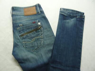 Inteligente Qs By S. Oliver Slim Donna Jeans Pantaloni 34/32 W34 L32 Destroyed Skinny Blu A573-