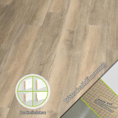 HORI/® Klick-Vinylboden Burgeiche Chalet savanna mit Microfase I f/ür 17,17 /€//m/²