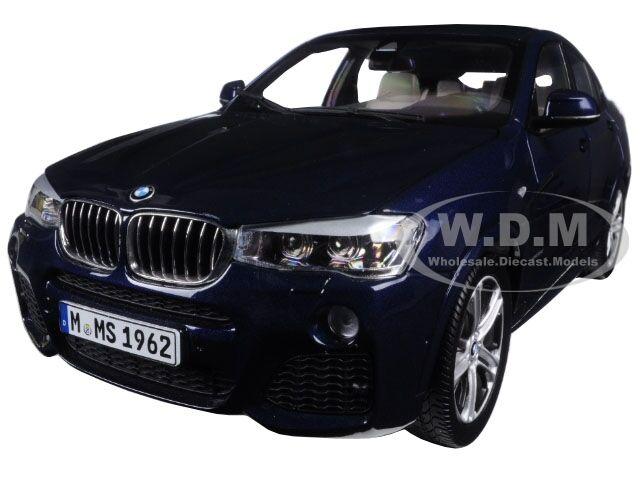 Bmw x4 (f26) imperial blau 1   18 nein auto - modell von paragon 97092