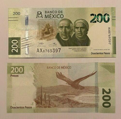 Mexico 2019 new DESIGN 200 pesos banknote  UNCIRCULATED